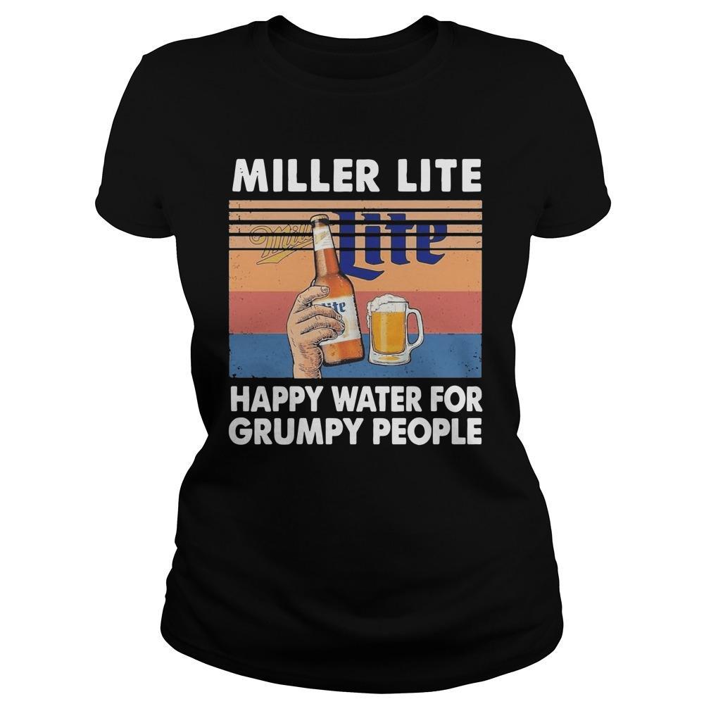 Vintage Miller Lite Happy Water For Grumpy People Longsleeve