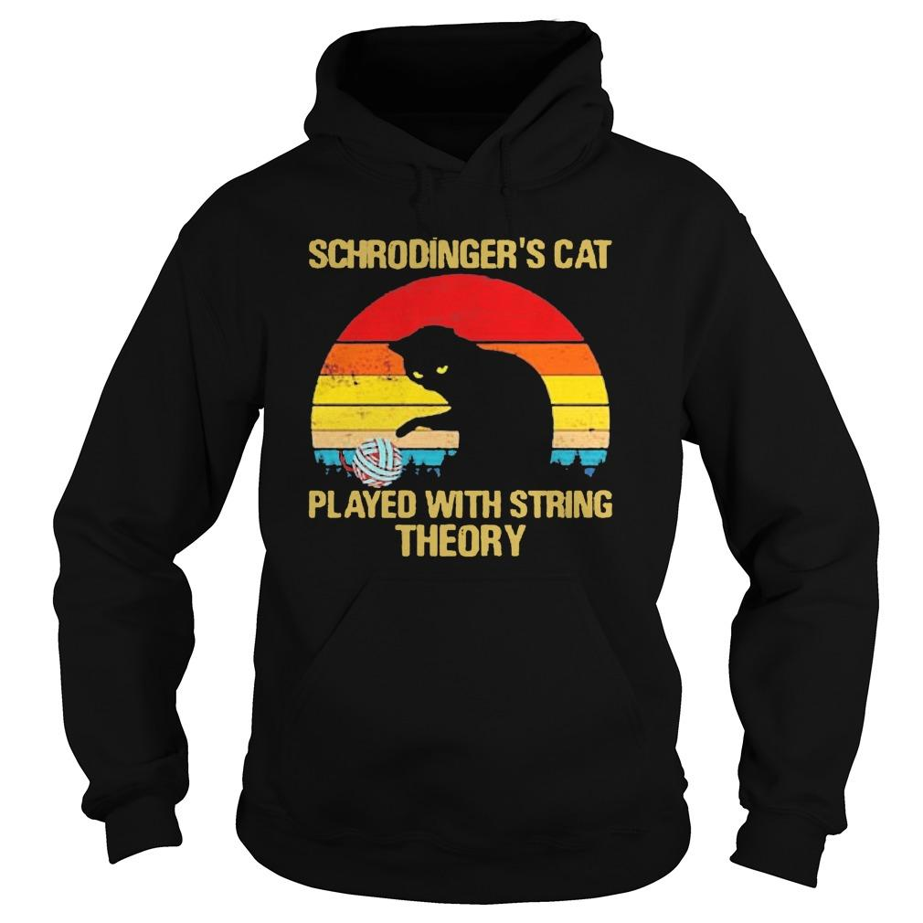 Vintage Schrodinger's Cat Played With String Theory Hoodie