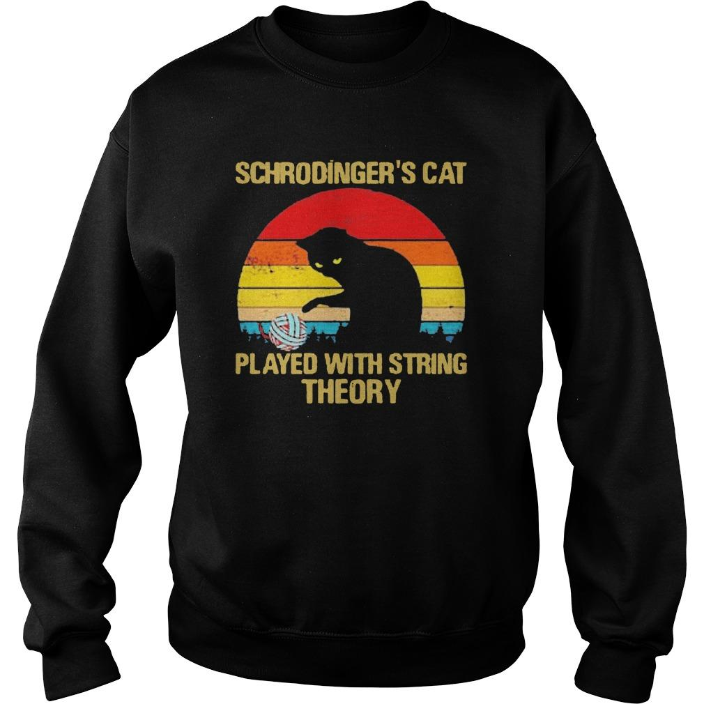 Vintage Schrodinger's Cat Played With String Theory Sweater