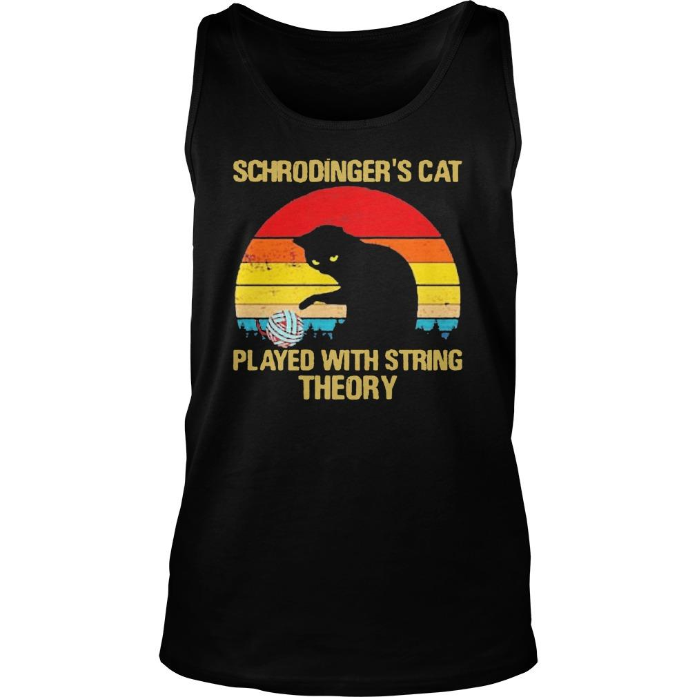 Vintage Schrodinger's Cat Played With String Theory Tank Top