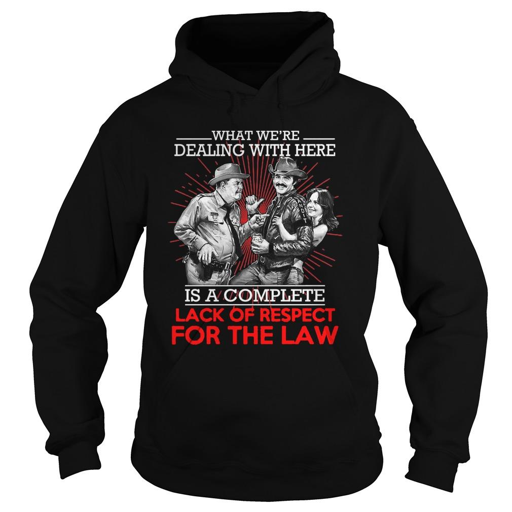 What We're Dealing With Here Is A Complete Lack Of Respect For The Law Hoodie