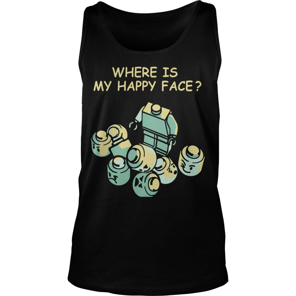 Where Is My Happy Face Tank Top