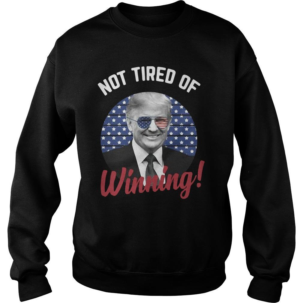 American Flag Donald Trump Not Tired Of Winning Sweater
