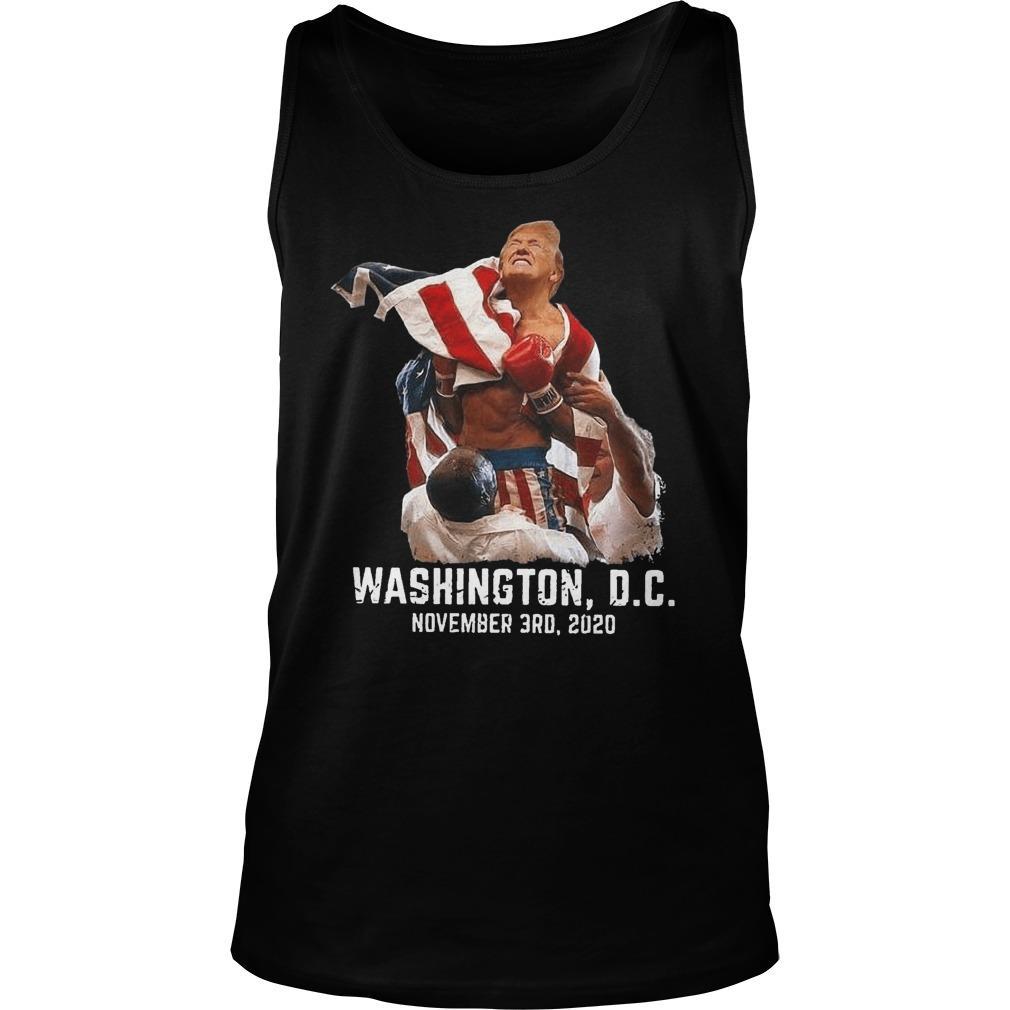 Boxing Trump Washington Dc November 3rd 2020 Tank Top