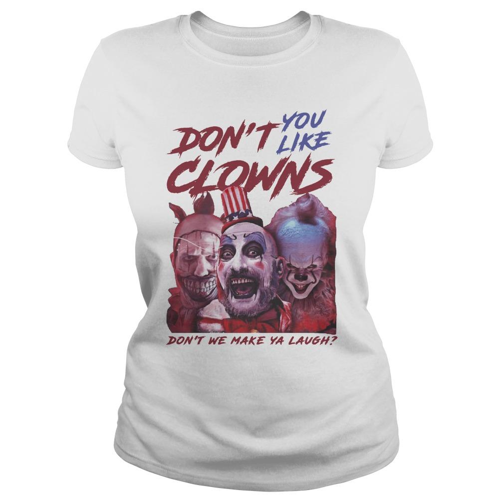 Clown Captain Spaulding Pennywise Don't You Like Clowns Longsleeve