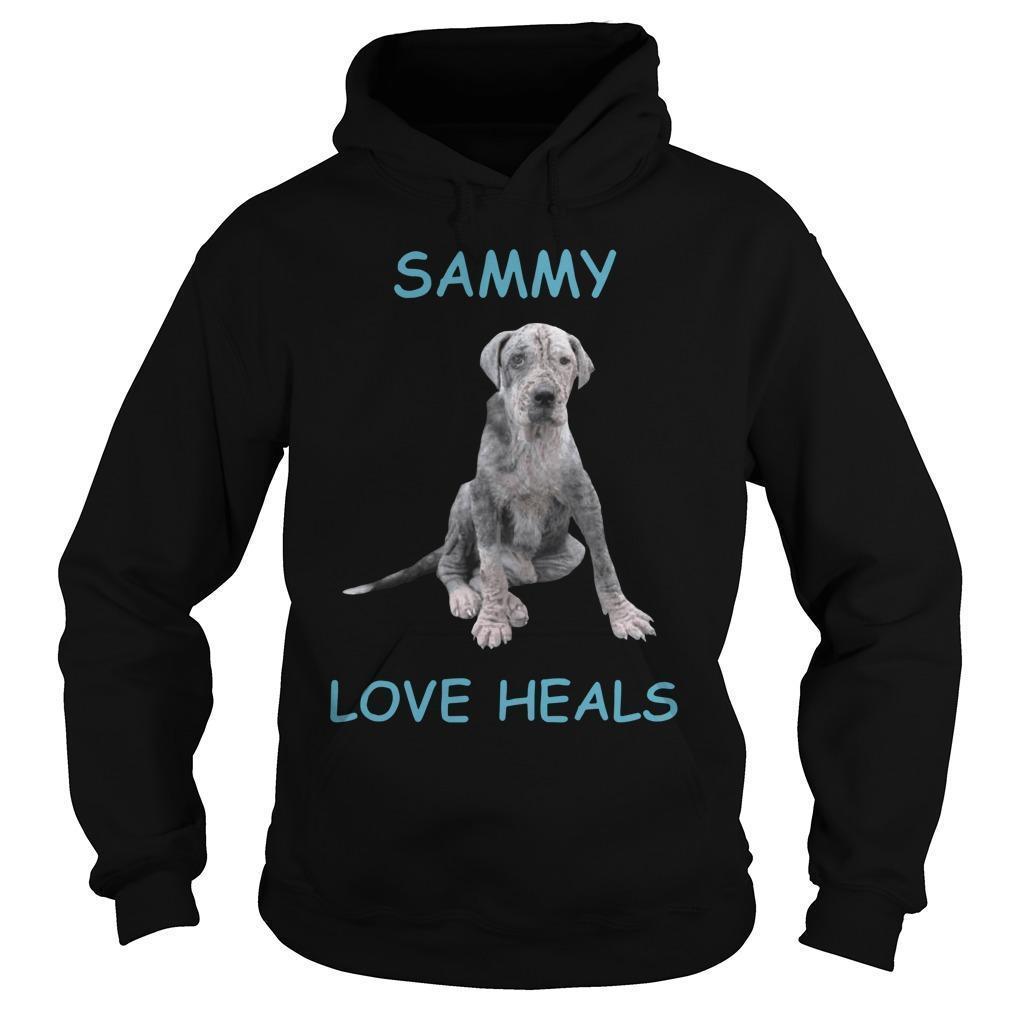 Dog Sammy Love Heals Hoodie