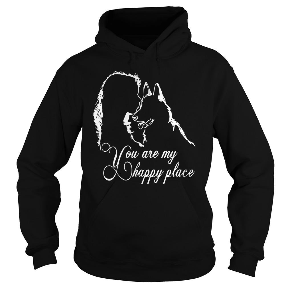 Girl And Dog You Are My Happy Place Hoodie