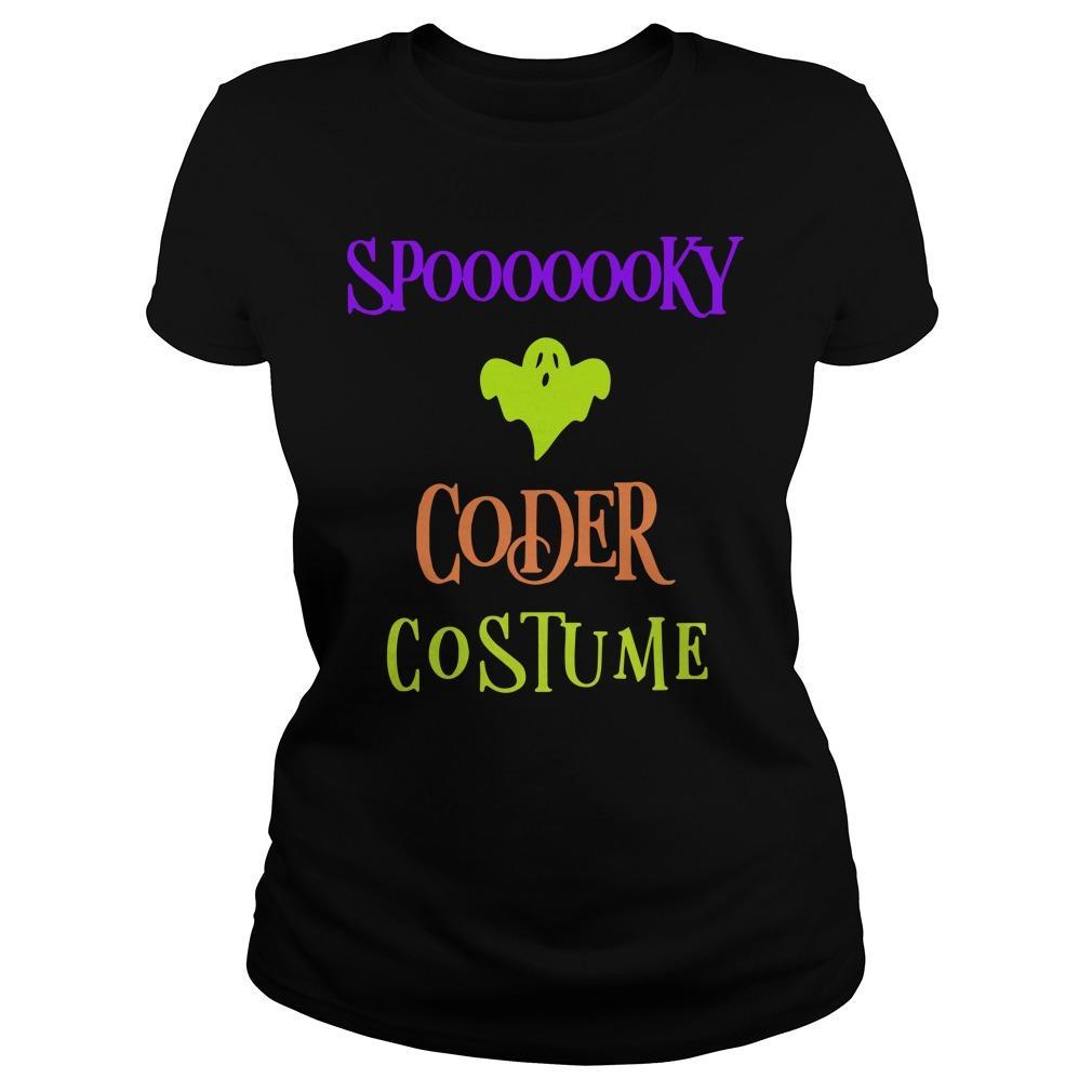 Halloween Humor Day Spooky Coder Costume Longsleeve