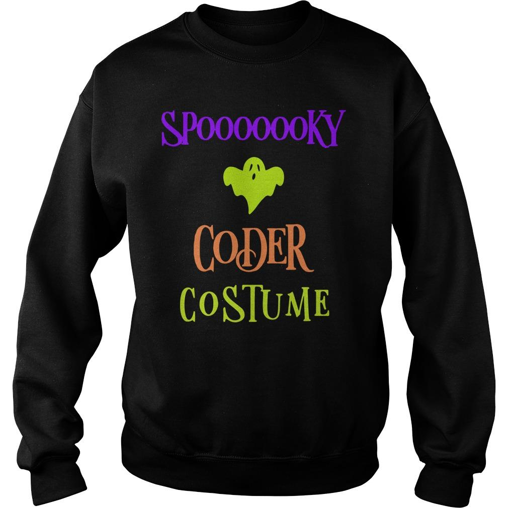 Halloween Humor Day Spooky Coder Costume Sweater