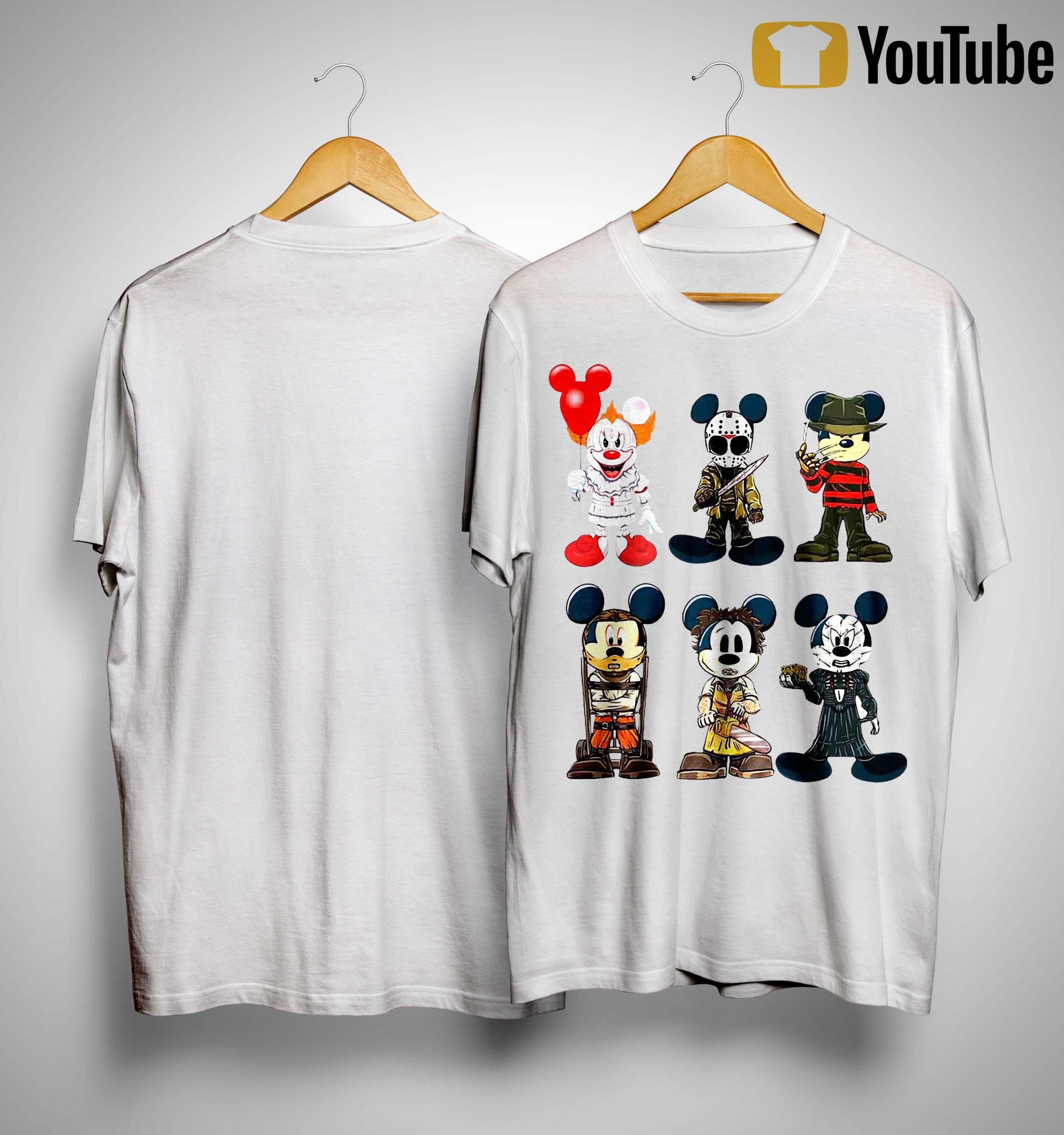 Halloween Mickey Cosplay Horror Characters Shirt