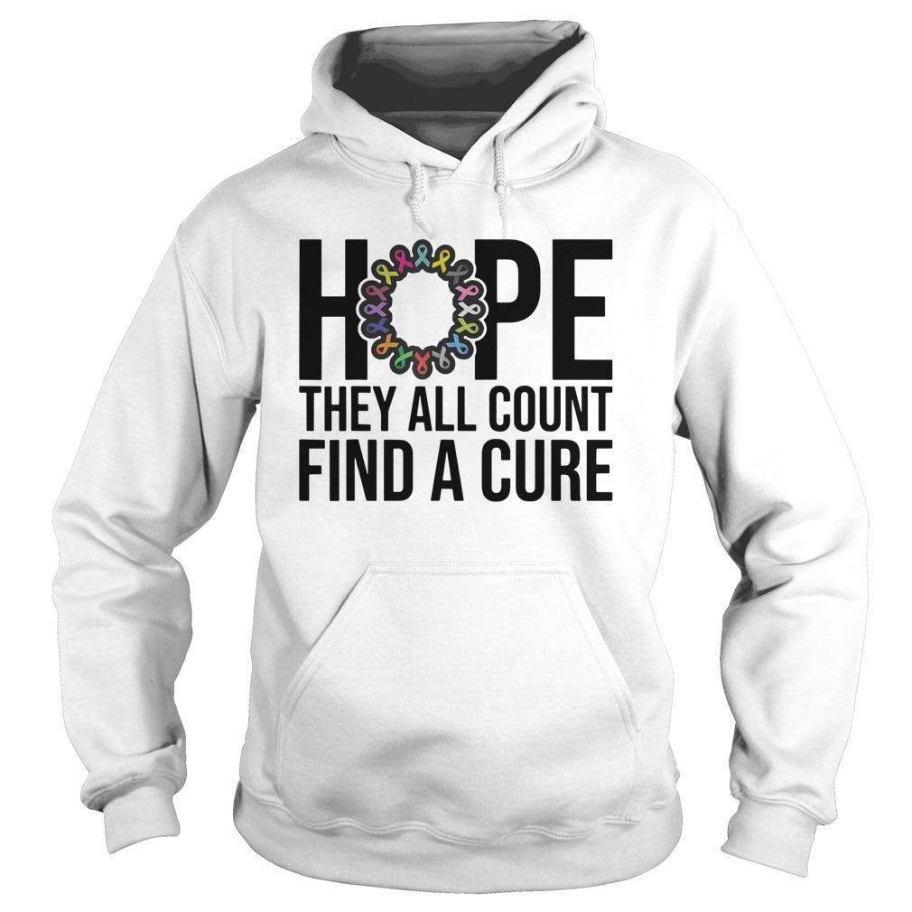 Hope They All Count Find A Cure Hoodie
