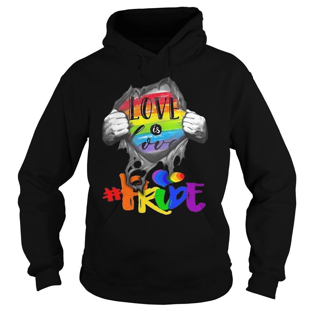 Inside Me Love Is Love #pride Hoodie