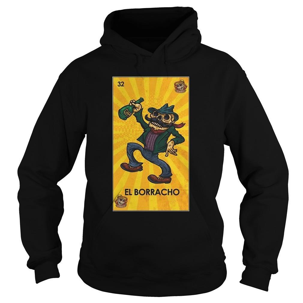 Loteria Chingon El Borracho Hoodie