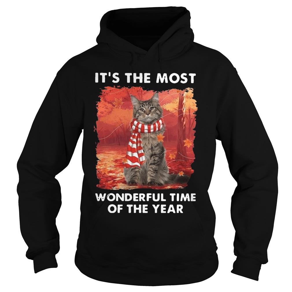 Maine Coon Autumn It's The Most Wonderful Time Of The Year Hoodie