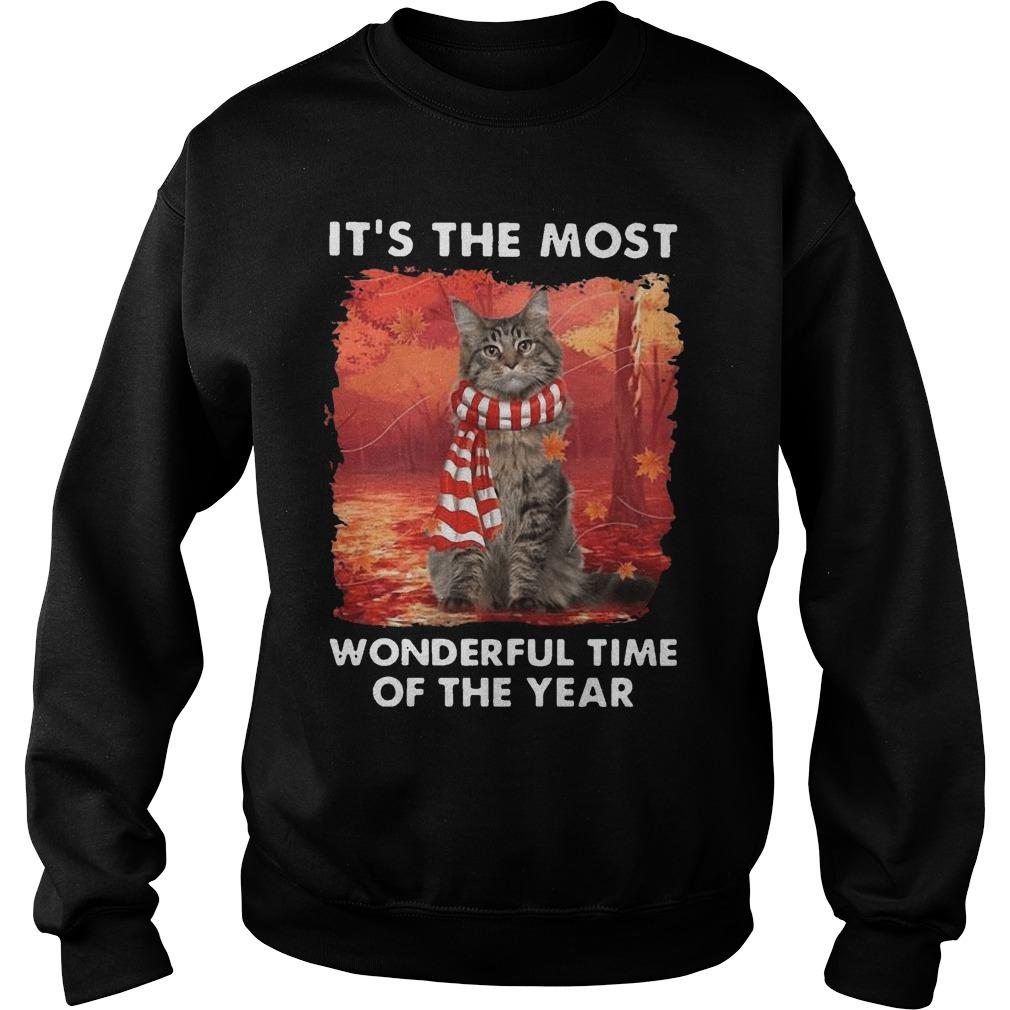 Maine Coon Autumn It's The Most Wonderful Time Of The Year Sweater
