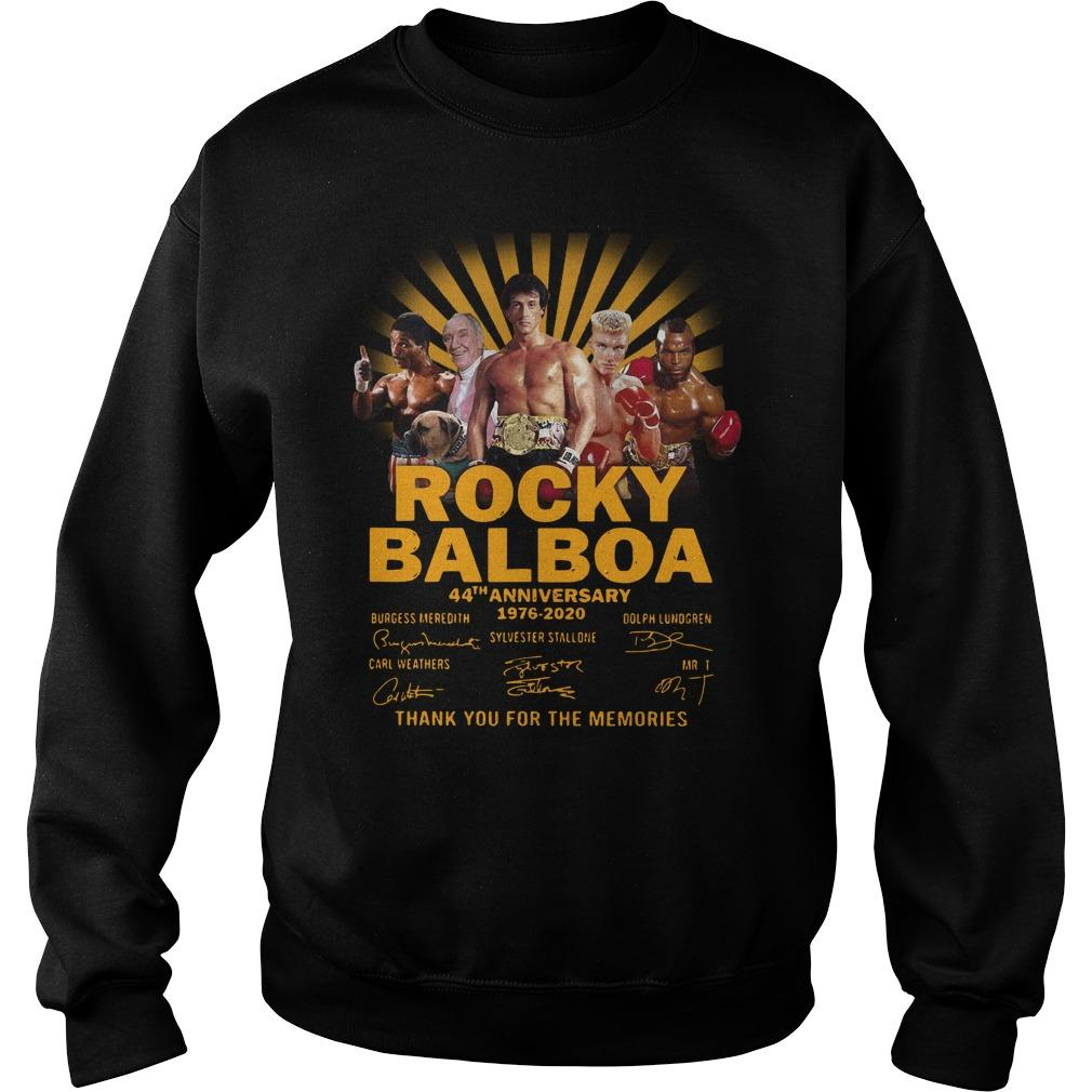 Rocky Balboa 44th Anniversary Thank You For The Memories Signatures Sweater