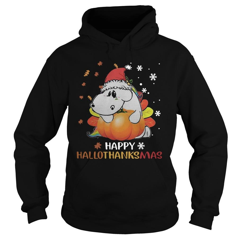 Senior Pumpkin Happy Hallothanksmas Hoodie