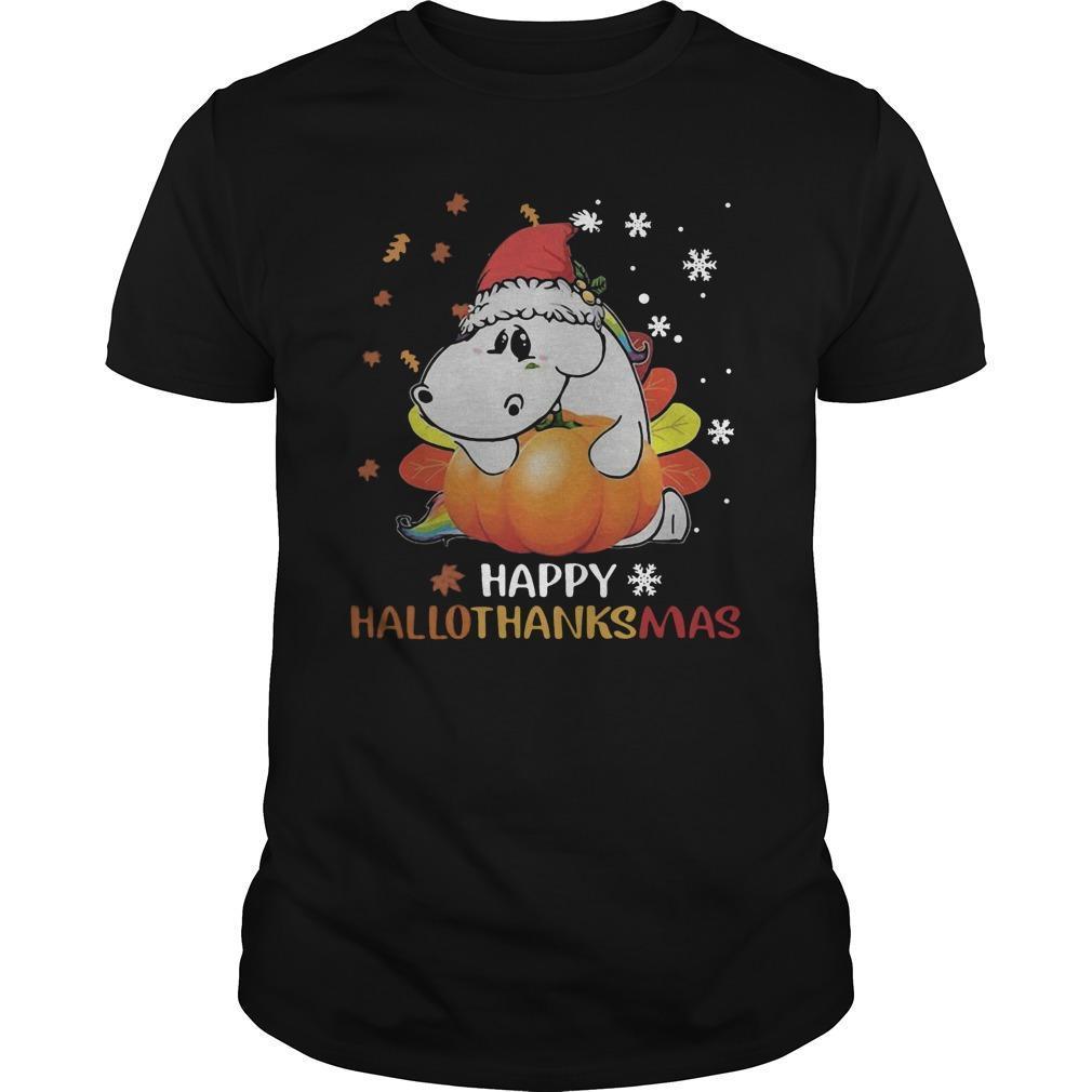 Senior Pumpkin Happy Hallothanksmas Shirt