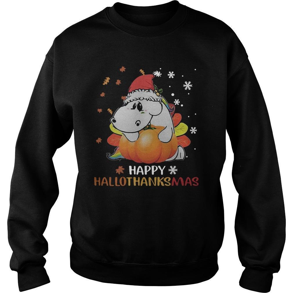 Senior Pumpkin Happy Hallothanksmas Sweater