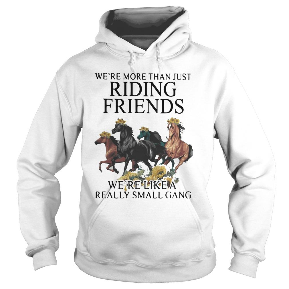 Sunflower Horse We're More Than Just Riding Friends Hoodie