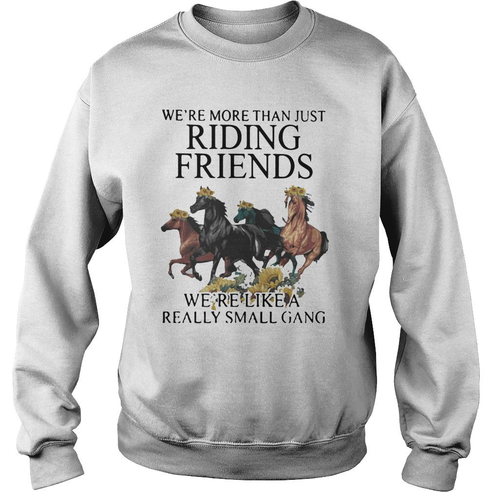 Sunflower Horse We're More Than Just Riding Friends Sweater