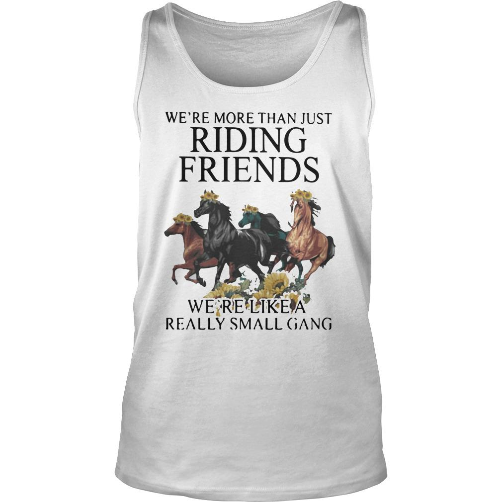 Sunflower Horse We're More Than Just Riding Friends Tank Top