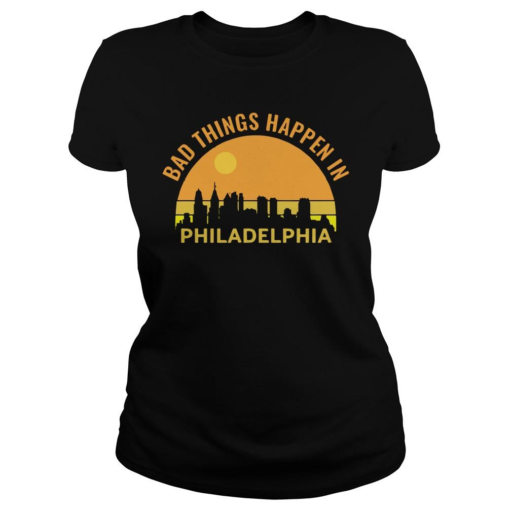 Sunset Bad Things Happen In Philadelphia Longsleeve