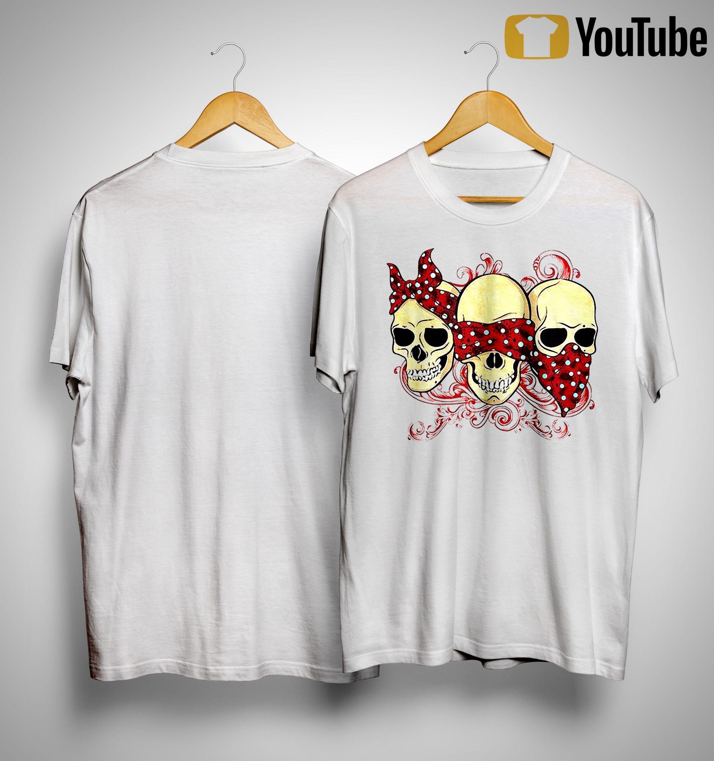 Three Skull Girl Shirt