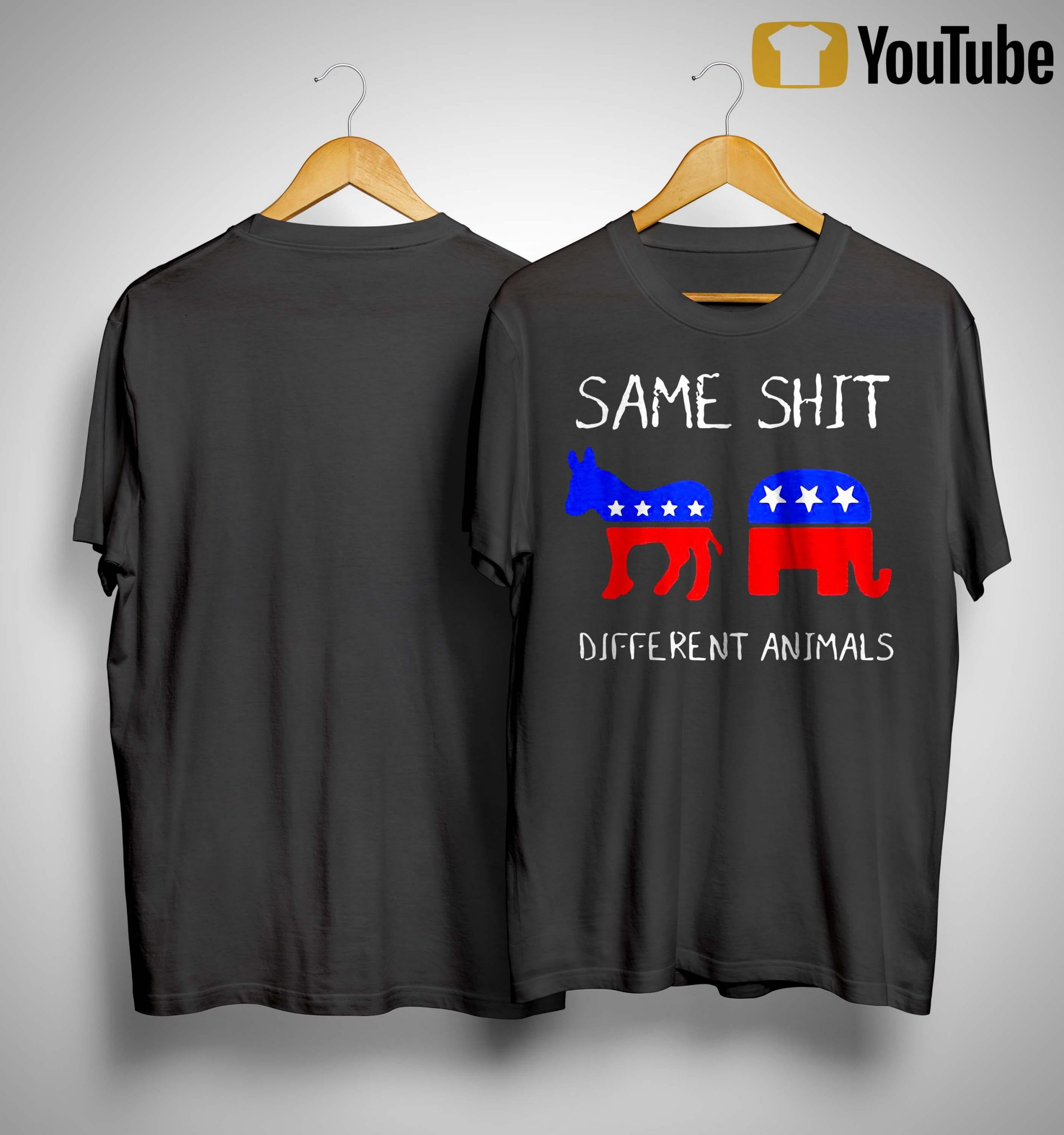 Trump And Biden Same Shit Different Animals Shirt