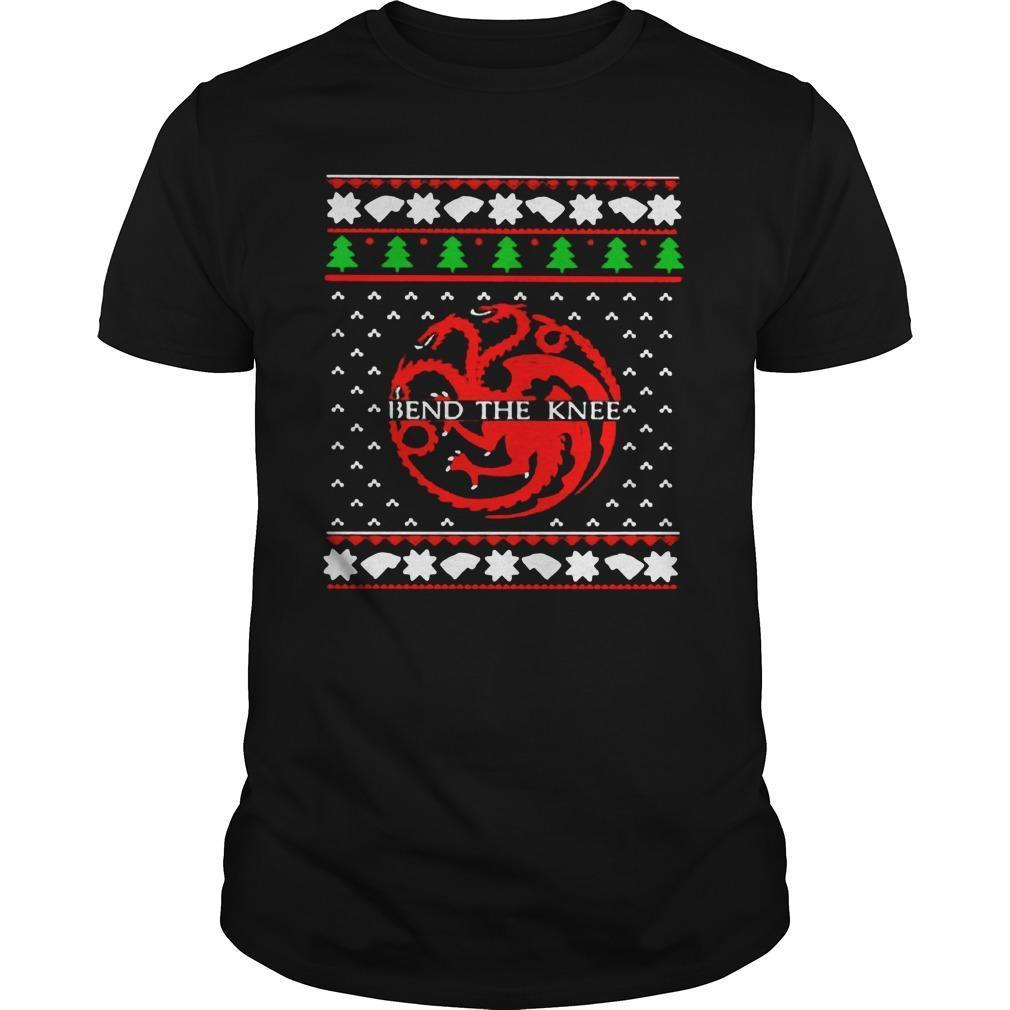 Ugly Christmas Game Of Thrones Bend The Knee Longsleeve