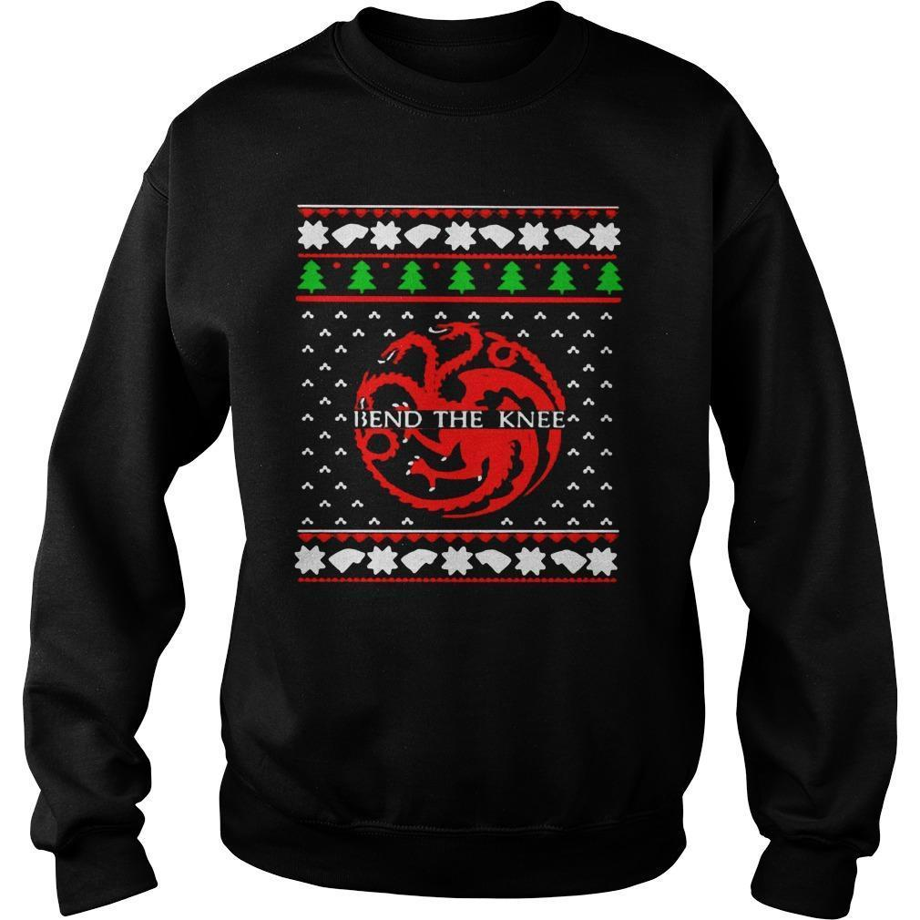 Ugly Christmas Game Of Thrones Bend The Knee Sweater