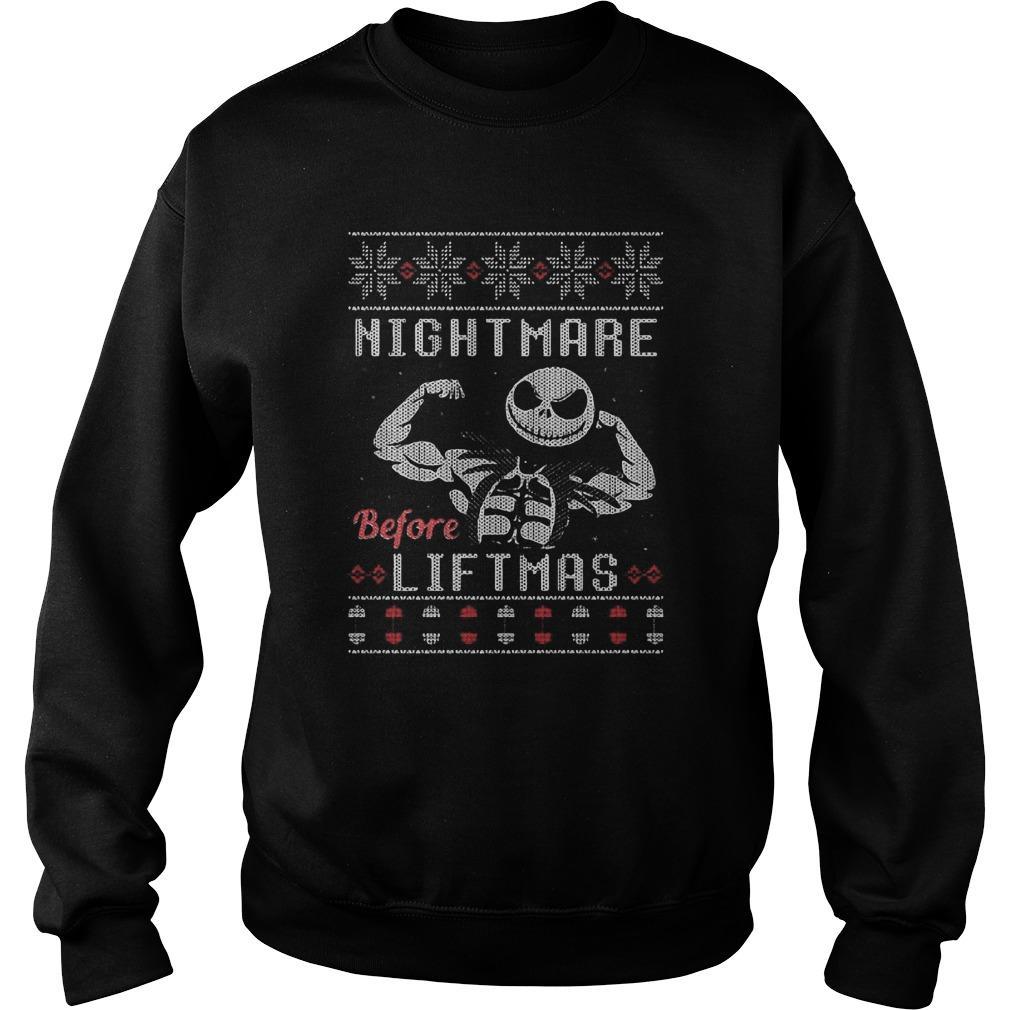 Ugly Christmas Jack Skellington Nightmare Before Liftmas Sweater