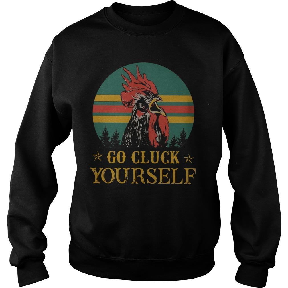 Vintage Go Cluck Yourself Sweater