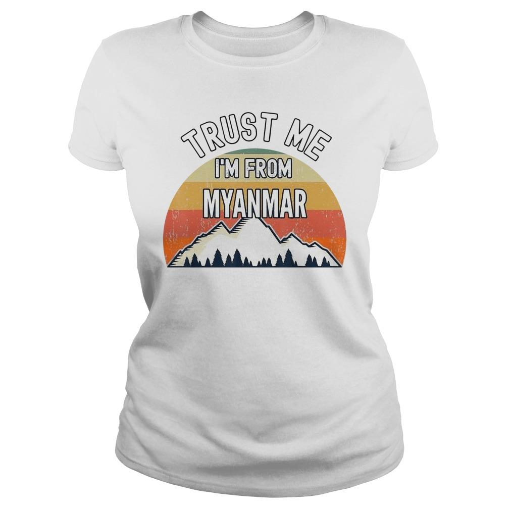 Vintage Trust Me I'm From Myanmar Longsleeve
