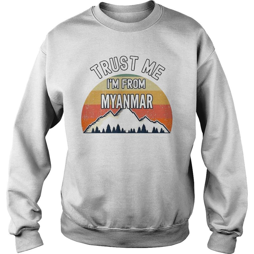 Vintage Trust Me I'm From Myanmar Sweater
