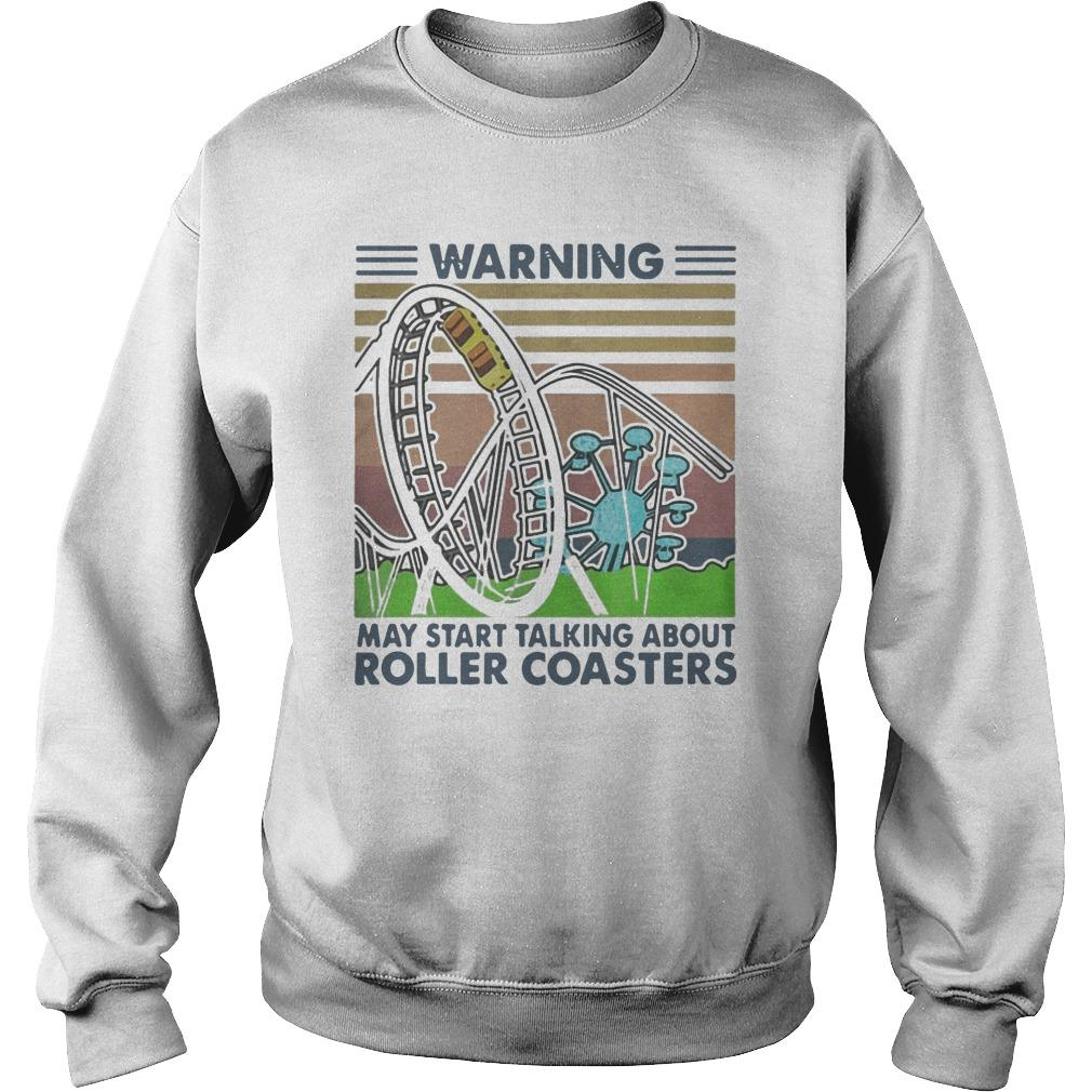 Vintage Warning May Start Talking About Roller Coasters Sweater