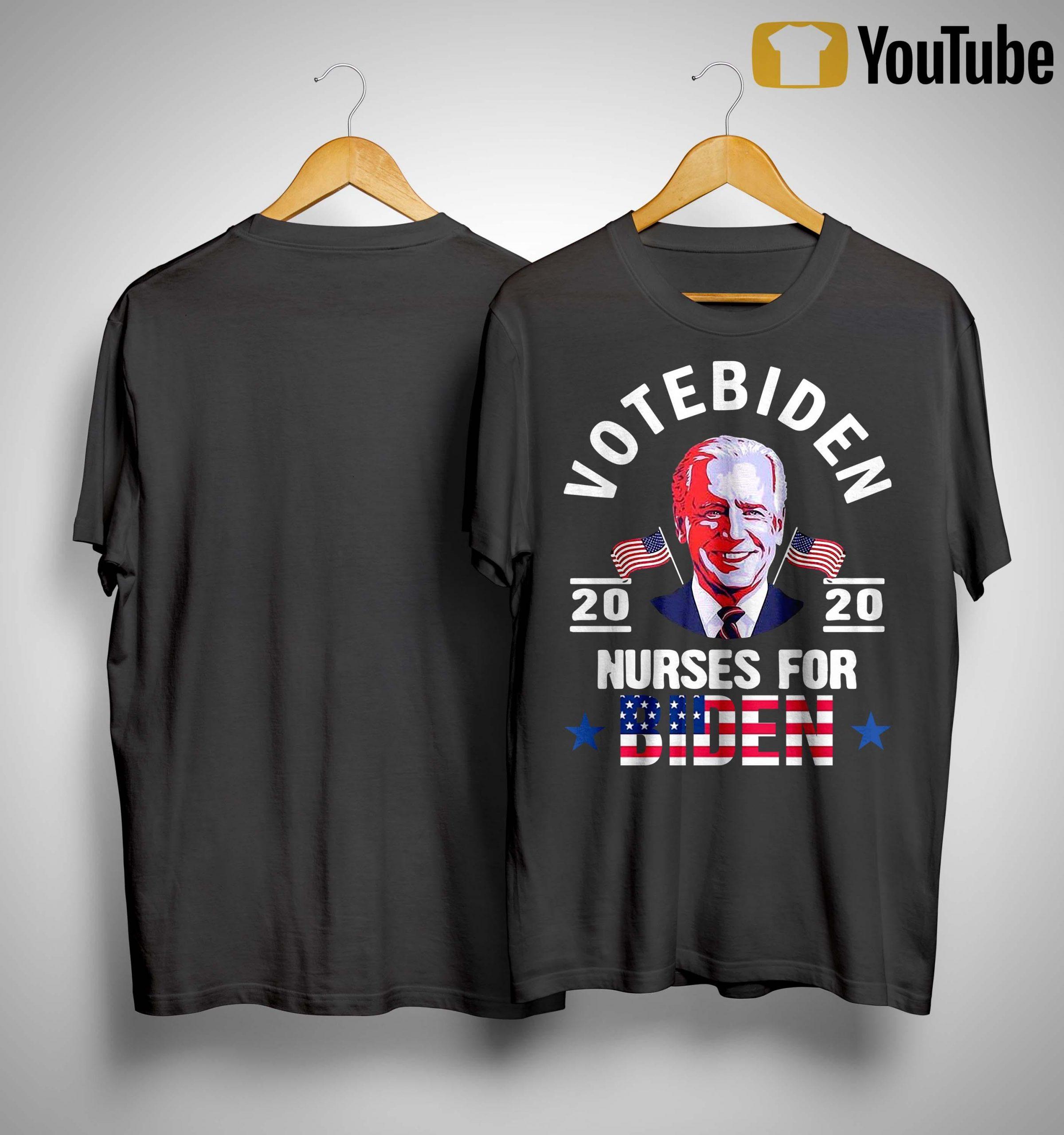 Vote Biden 2020 Nurses For Biden Shirt