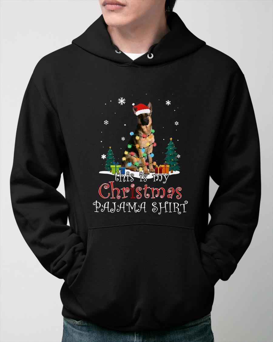 German Shepherd This Is My Christmas Pajama Hoodie